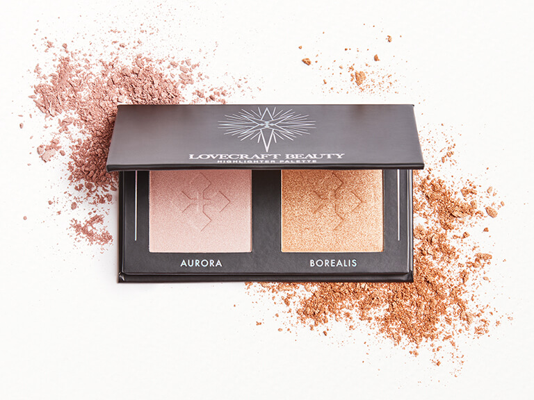 LOVECRAFT BEAUTY Highlighter Palette in Aurora + Borealis
