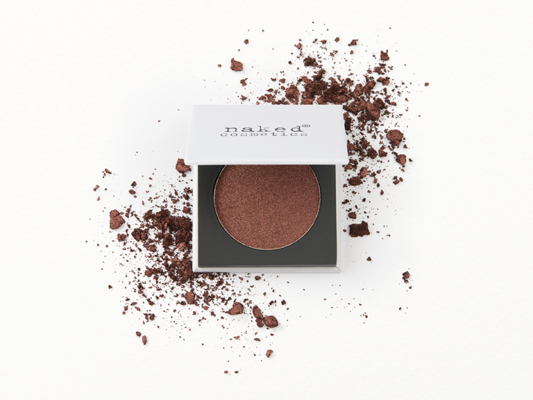 Naked Cosmetics Pressed Eyeshadow in BB06(dark brown) with swatch