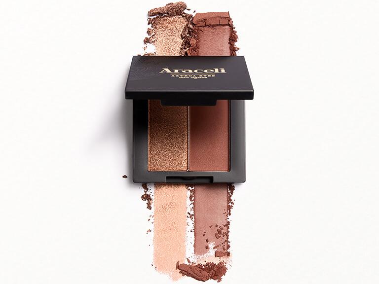 ARACELI BEAUTY Eyeshadow Duo in Copper & Chocolate