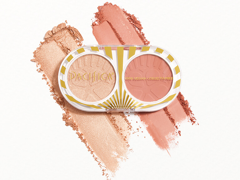 PACIFICA BEAUTY Blush + Highlight Duo in Fire Lit and Glimmer Shimmer