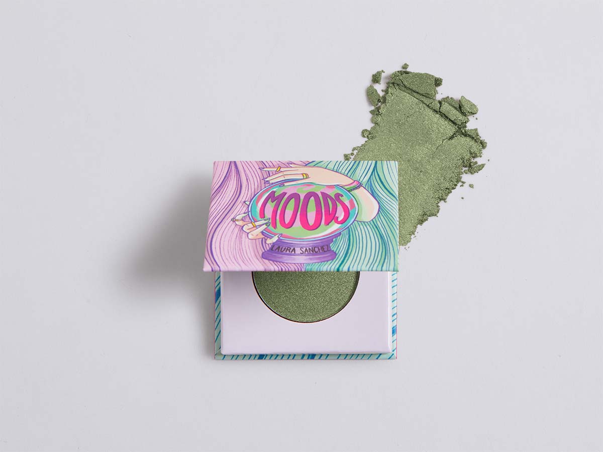 LAURA SANCHEZ Moods Eyeshadow in Martini Olive Green