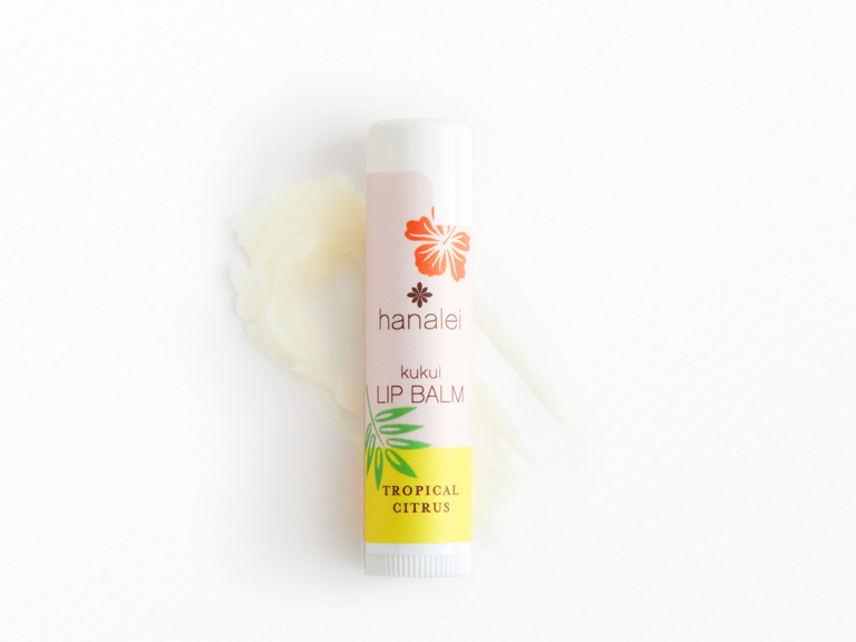 Hanalei Lip Balm in Tropical Citrus with swatch