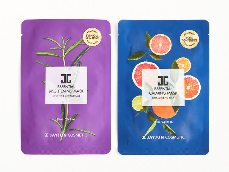 JAYJUN USA Calming and Brightening Essential Sheet Mask Set