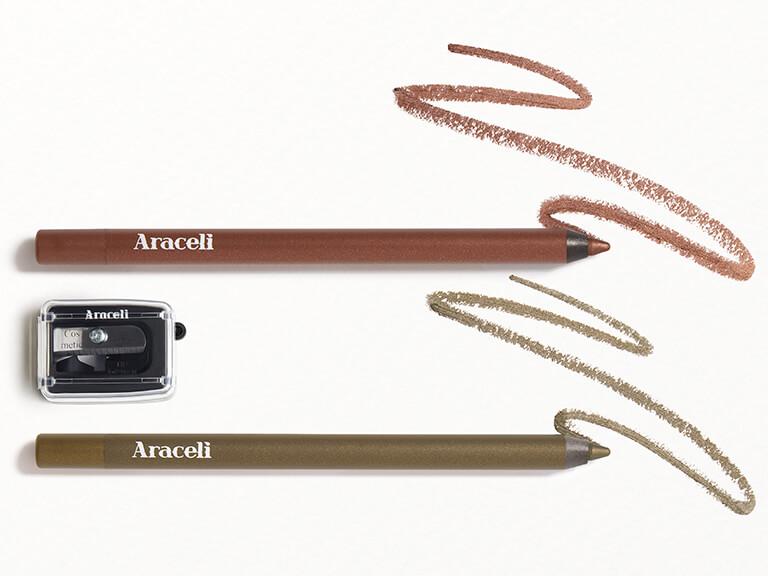 ARACELI_BEAUTY_Ojos_Perfectos_Gel_Pencil_Eyeliner_Dúo_ _Cosmética_Sharpener_in_BronzeBronce_ _OliveOlivo_with_Sharpener