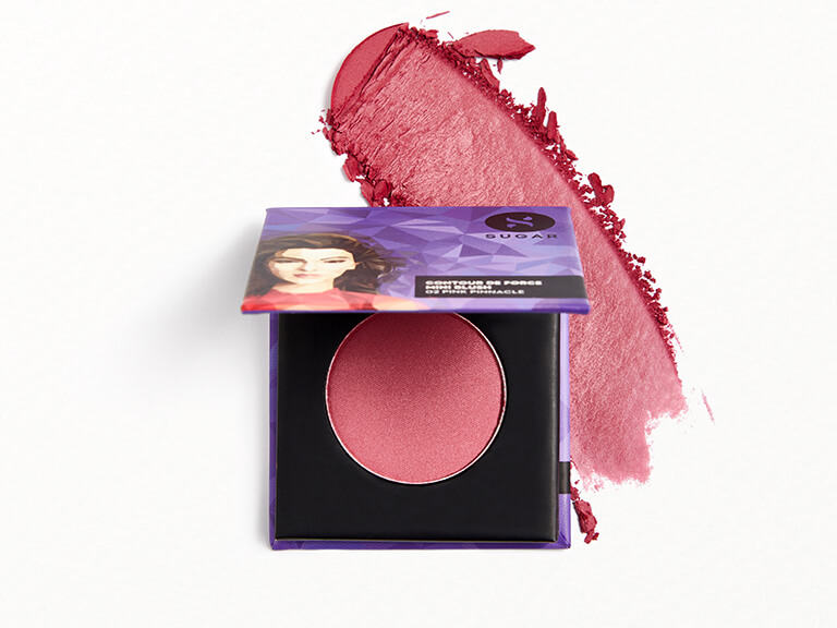 SUGAR COSMETICS Contour De Force Mini Blush in 02 Pink Pinnacle