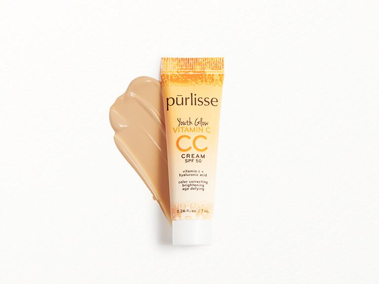 PURLISSE BEAUTY Youth Glow Vitamin C CC Cream SPF50 in Light