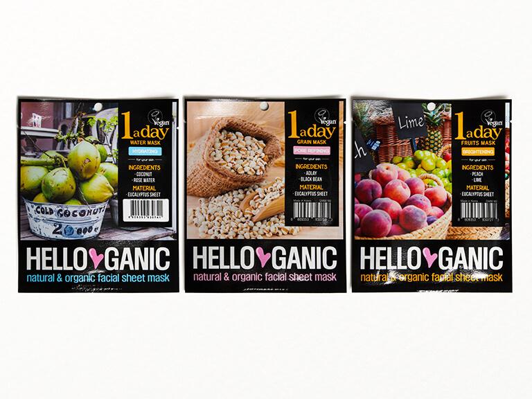 HELLOGANIC One a Day Sheet Mask Set