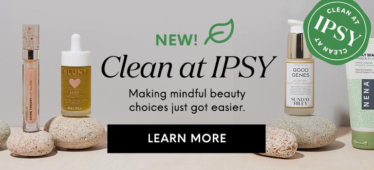 September 2021 Clean Beauty at IPSY GBLP Banner Mobile