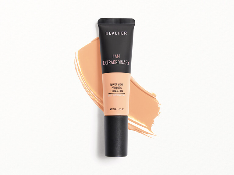 REALHER Power Wear Probiotic Foundation in I Am Extraordinary