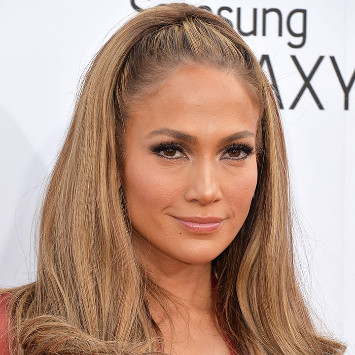 A photo of Jennifer Lopez with '60s-esque style hair