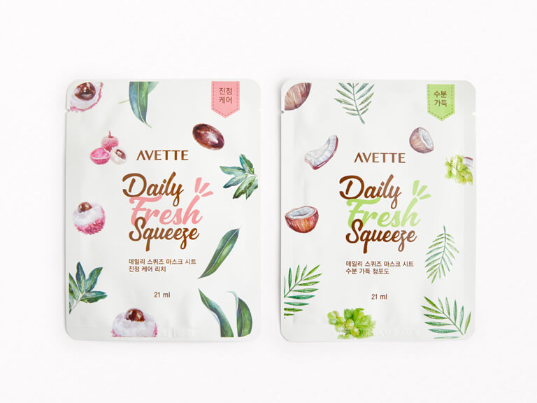 AVETTE Daily Fresh Squeeze Sheet Mask Duo in Grape and Lychee