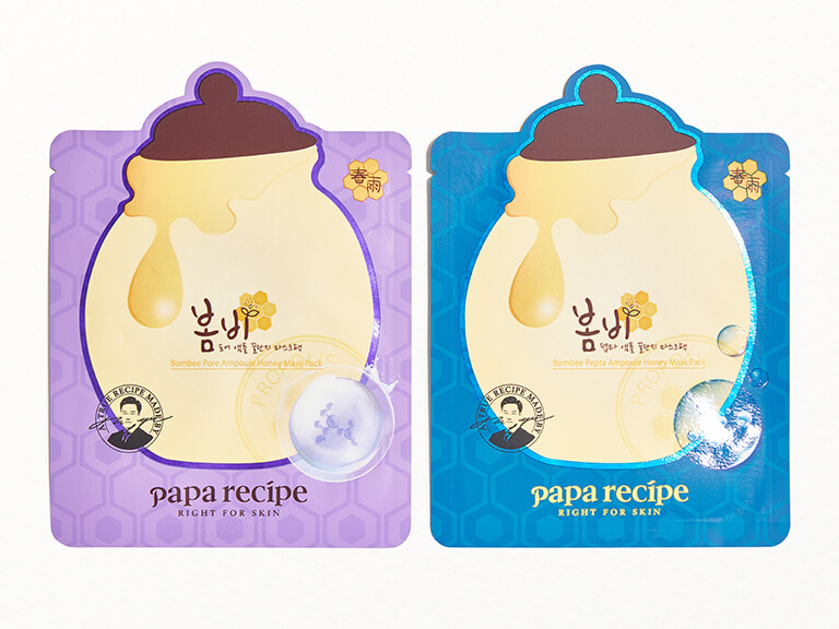 PAPA RECIPE Bombee Pore Ampoule Honey Mask & Bombee Pepta Ampoule Honey Mask Duo