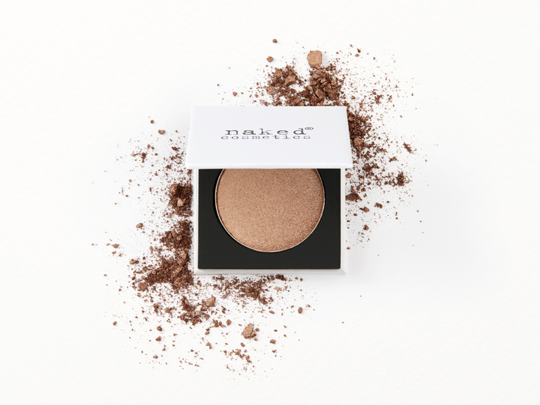 Naked Cosmetics Pressed Eyeshadow in MN05(Champagne) with swatch