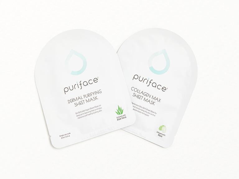 PURIFACE Dermal Purifying Sheet Mask & Collagen Max Sheet Mask Set