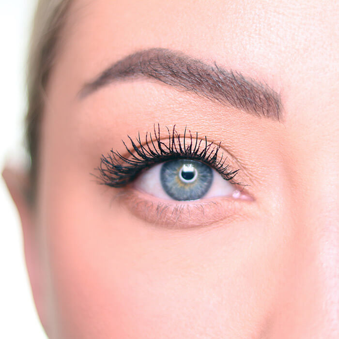 Close-up image of Anne Baker's natural looking eye makeup