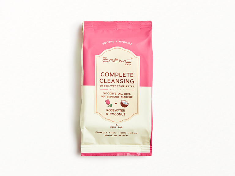 THE CRÈME SHOP Rosewater + Coconut Complete Cleansing Towelettes