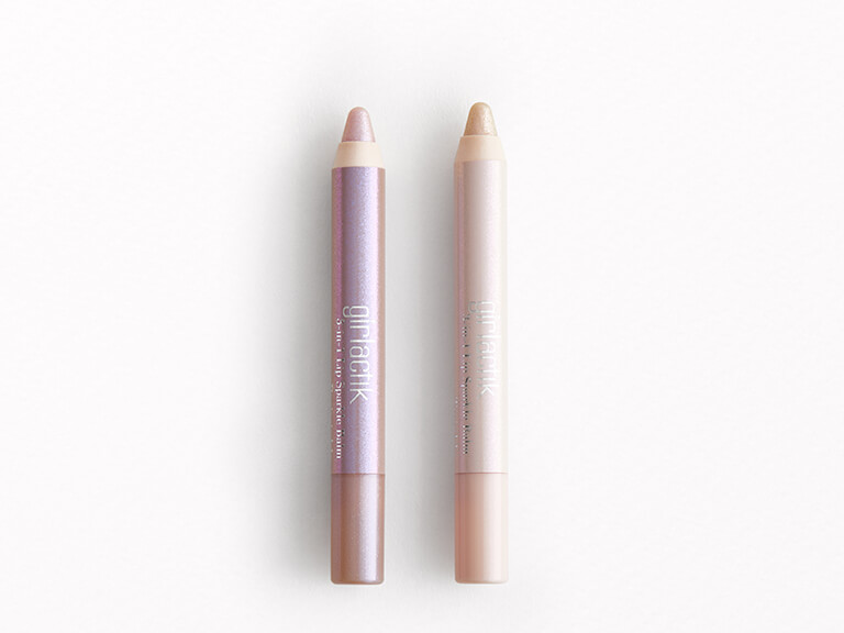 GIRLACTIK 3-in-1 Lip Sparkle Balm Duo in Periwinkle and Twinkle