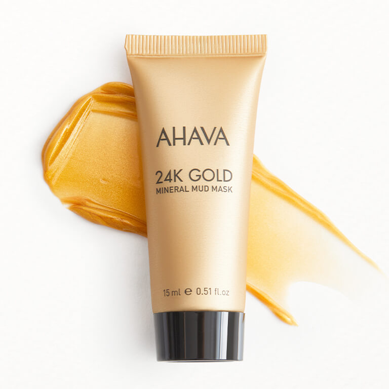 An image of AHAVA 24K Gold Mineral Mud Mask.