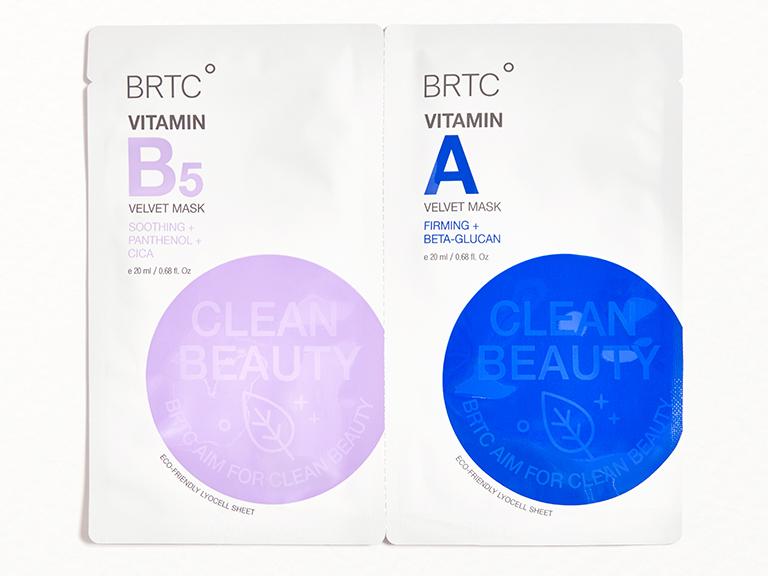 BRTC Vitamin B5 Velvet Mask & Vitamin A Velvet Mask Duo