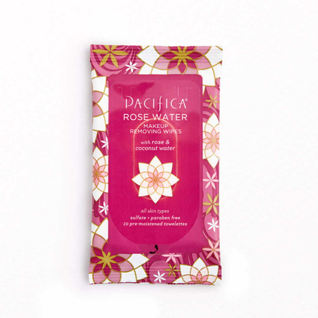 PACIFICA BEAUTY Rose Water Makeup Removing Wipes