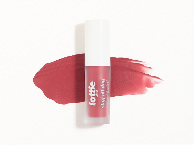 LOTTIE LONDON Slay All Day Liquid Lipstick in Low Key