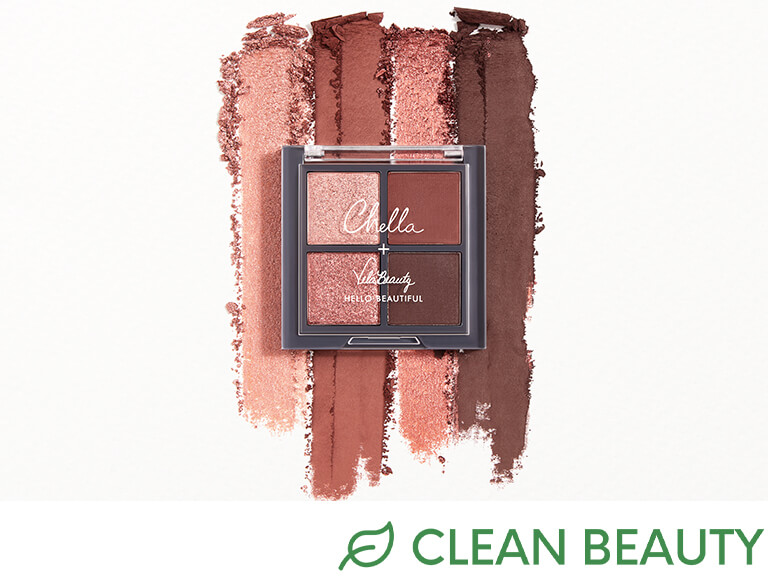 CHELLA Travel Size Blushing Rose Quad Palette