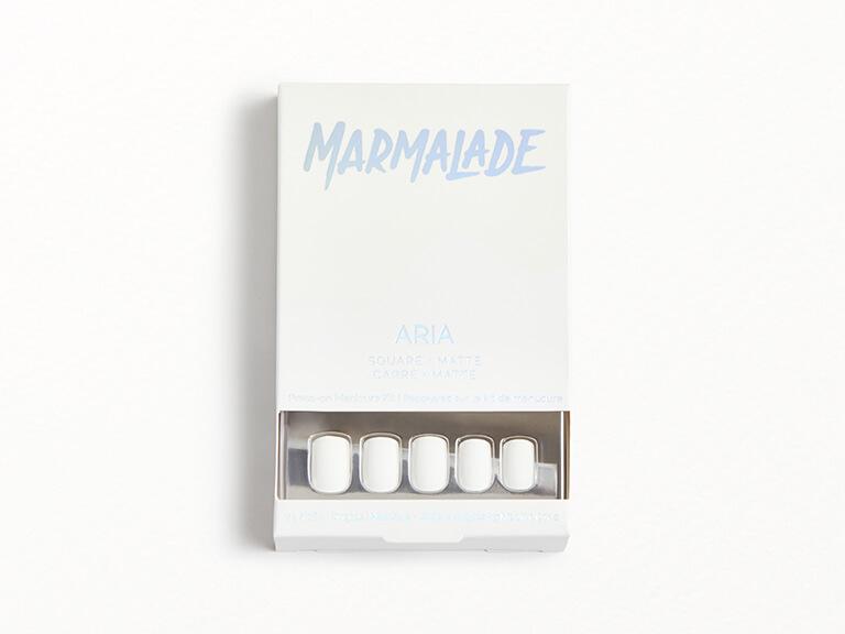 MARMALADE NAILS Press-on Manicure Kit in Aria - Square Matte White