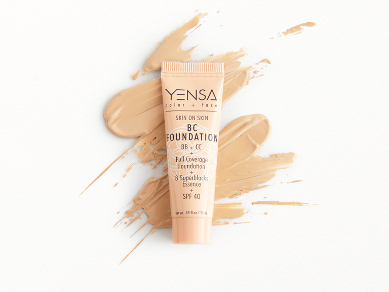 YENSA BC Foundation in Light Neutral with swatch
