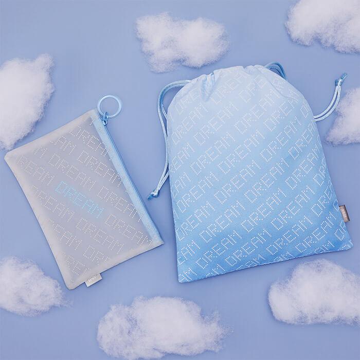 IPSY Glam Bag and Glam Bag Plus bag on sky background