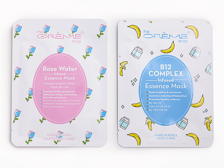 THE CRÈME SHOP Essence Infused Sheet Mask Duo in Rose Water & B12 Complex