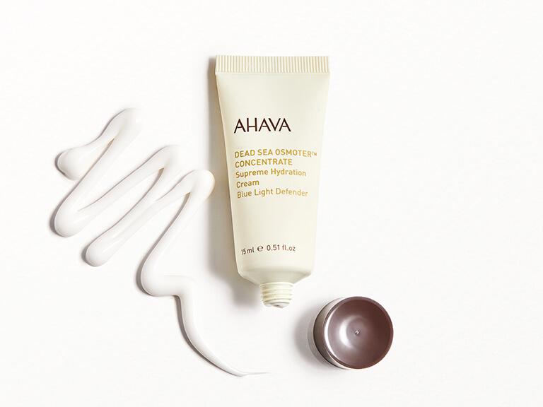 AHAVA Dead Sea Osmoter Concentrate Supreme Hydration Cream Blue Light Defender